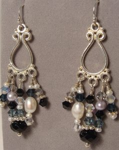 Make these earrings in classes at The Twisted Bead & Rock Shop.