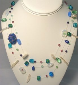 This Illusion necklace can be made in a design class at The Twisted Bead & Rock Shop.