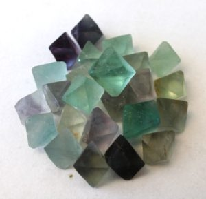 Fluorite cubes available at The Twisted Bead & Rock Shop