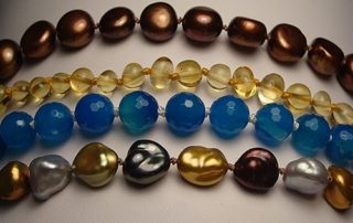 Learn the art of pearl knotting in classes at The Twisted Bead & Rock Shop
