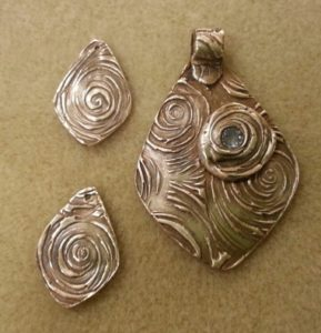 Make these pendants in a precious metal clay class at The Twisted Bead & Rock Shop.