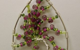 Make this cherry blossom pendant in our Tree of Life class.