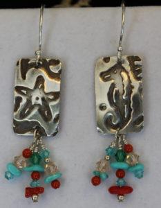Make these vintaj starfish earrings in our Vintaj Metal class.