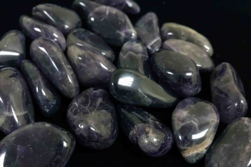 Tumbled African Amethyst stones