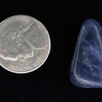 Small sodalite stone size compared to a nickel