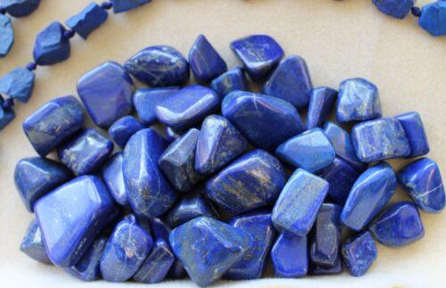Lapis crystal tumbled stone