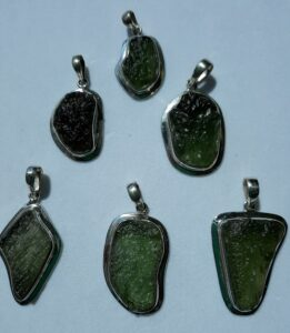 Large moldavite pendant for sale