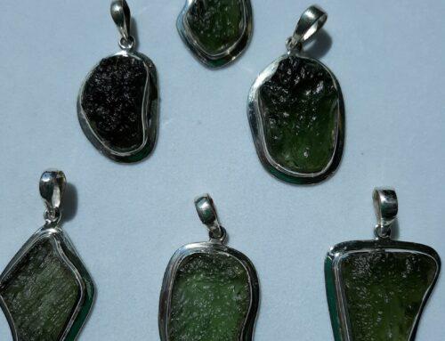 Moldavite pendants